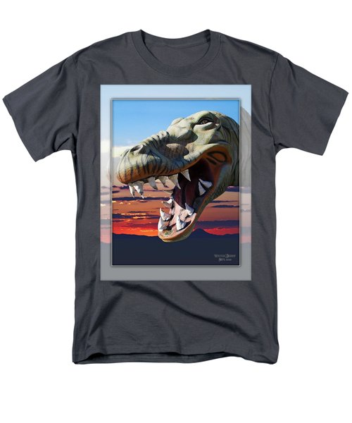 Cabazon Dinosaur Men's T-Shirt  (Regular Fit) by Walter Herrit