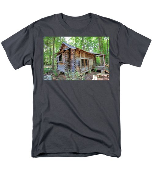 Men's T-Shirt  (Regular Fit) featuring the photograph Cabin In The Woods by Gordon Elwell