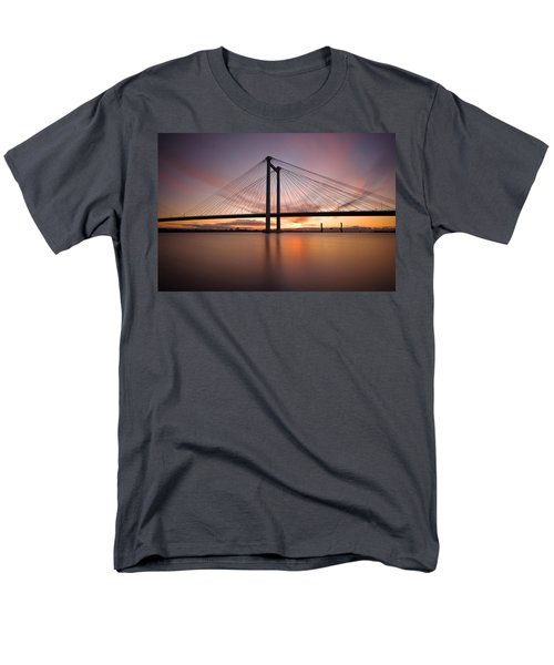 Men's T-Shirt  (Regular Fit) featuring the photograph Cable Bridge by Ronda Kimbrow