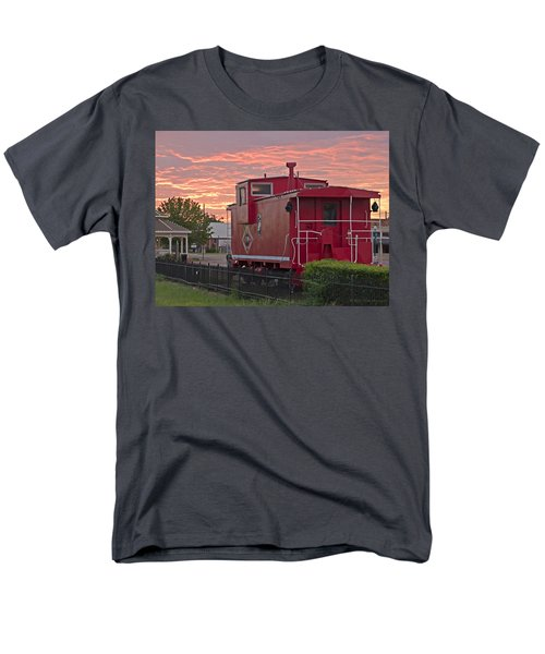 Caboose 1 Men's T-Shirt  (Regular Fit) by Walter Herrit
