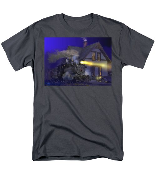 Caboose Hop At Dolores Colorado Men's T-Shirt  (Regular Fit) by J Griff Griffin