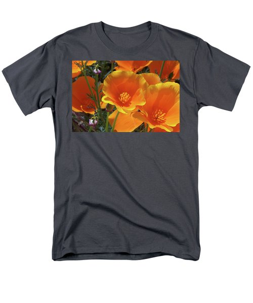 California Poppies Men's T-Shirt  (Regular Fit) by Ben and Raisa Gertsberg