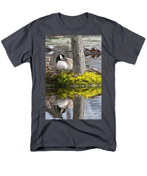 Canada Goose On Nest Men's T-Shirt  (Regular Fit) by Michael Cummings