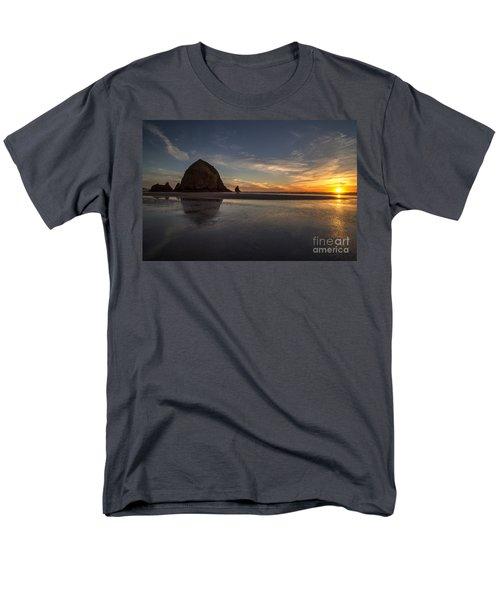 Cannon Beach Dusk Conclusion Men's T-Shirt  (Regular Fit) by Mike Reid