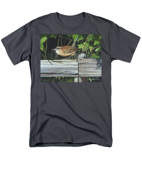 Men's T-Shirt  (Regular Fit) featuring the painting Carolina Wren by Mike Brown
