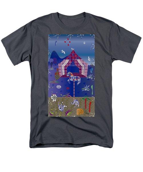 Carousel  Men's T-Shirt  (Regular Fit) by Gabriela Delgado