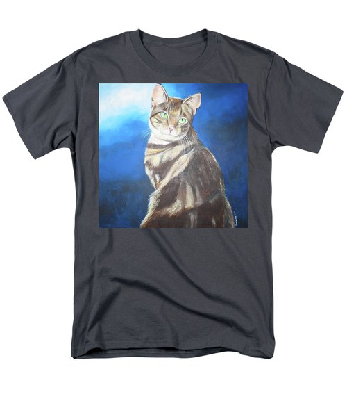 Men's T-Shirt  (Regular Fit) featuring the painting Cat Profile by Thomas J Herring
