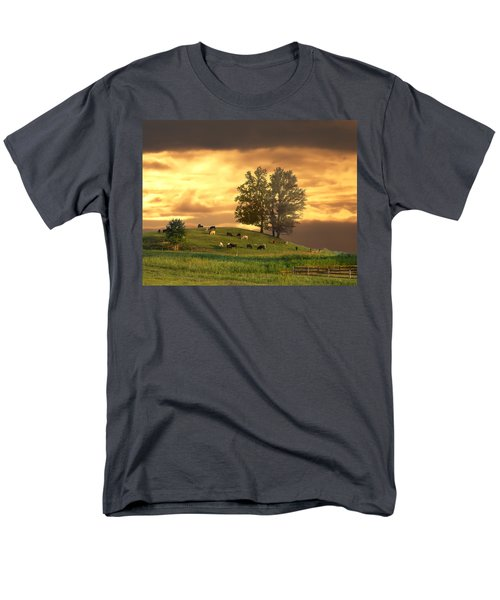 Cattle On A Hill Men's T-Shirt  (Regular Fit) by Randall Branham