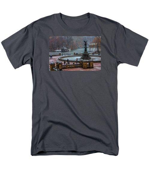 Central Park Snow Storm Men's T-Shirt  (Regular Fit) by Chris Lord