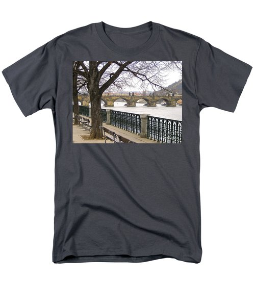 Charles Bridge  Men's T-Shirt  (Regular Fit) by Suzanne Oesterling