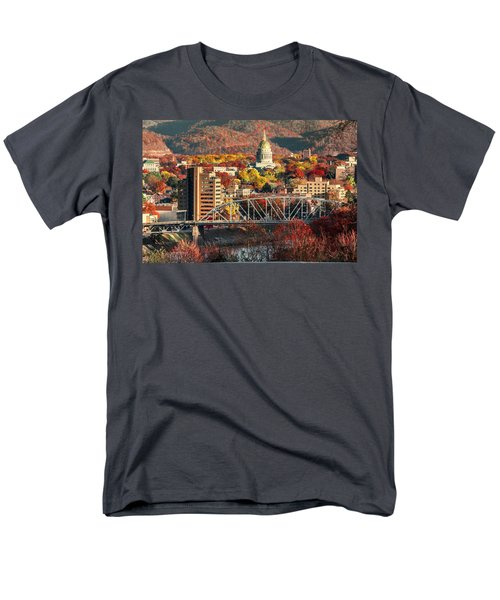 Charleston And Wv Capitol Men's T-Shirt  (Regular Fit) by Mary Almond