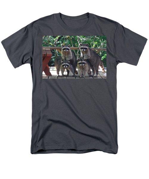 Cheerleading Raccoons Men's T-Shirt  (Regular Fit) by Kym Backland