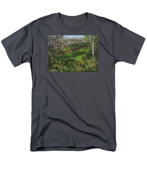 Cherry Orchard Evening Men's T-Shirt  (Regular Fit) by Madonna Siles