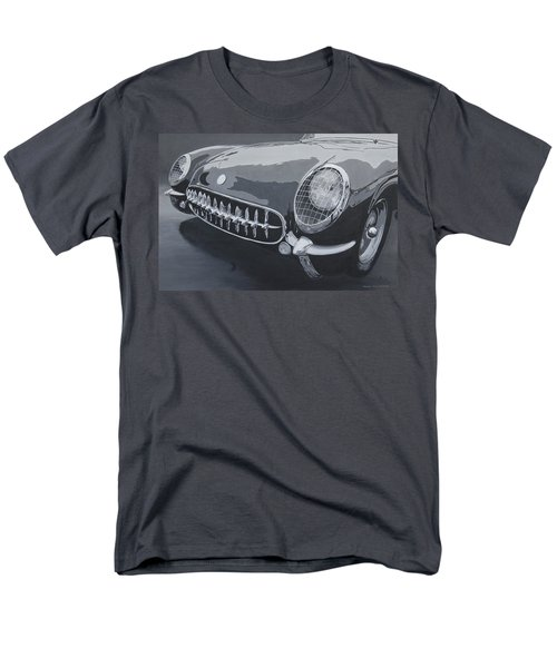 Men's T-Shirt  (Regular Fit) featuring the painting Chevrolet Corvette 1954 by Anna Ruzsan