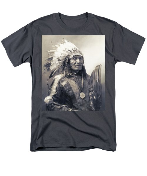 Chief He Dog Of The Sioux Nation  C. 1900 Men's T-Shirt  (Regular Fit) by Daniel Hagerman