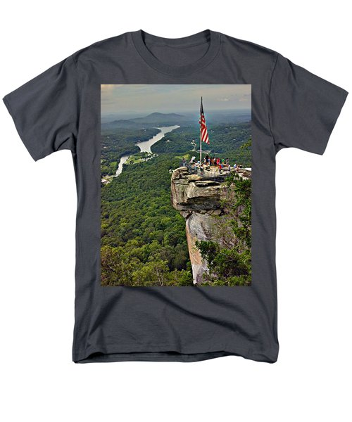 Men's T-Shirt  (Regular Fit) featuring the photograph Chimney Rock Overlook by Alex Grichenko