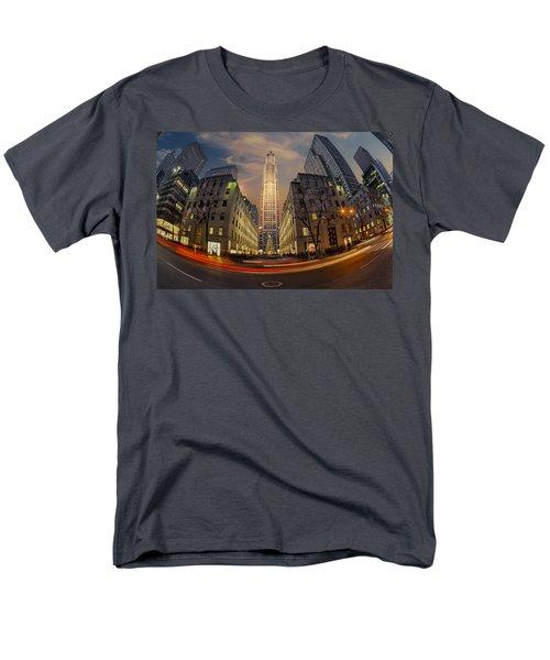 Christmas At Rockefeller Center Men's T-Shirt  (Regular Fit) by Susan Candelario
