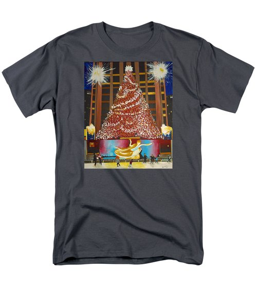 Christmas In The City Men's T-Shirt  (Regular Fit) by Donna Blossom