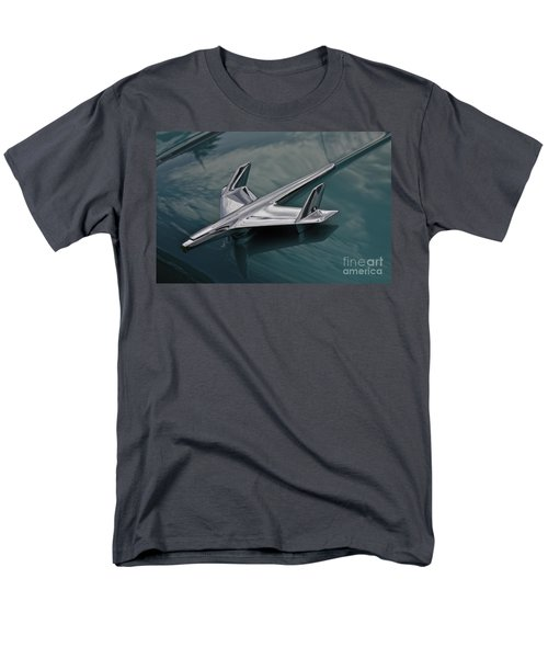 Chrome Airplane Hood Ornament Men's T-Shirt  (Regular Fit) by Linda Bianic
