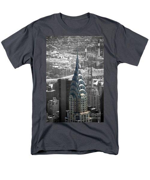 Men's T-Shirt  (Regular Fit) featuring the photograph Chrysler Building by Angela DeFrias