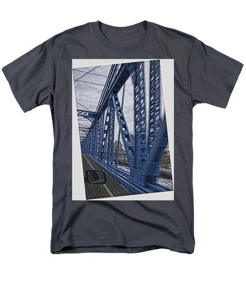 Cincinnati Bridge Men's T-Shirt  (Regular Fit) by Daniel Sheldon