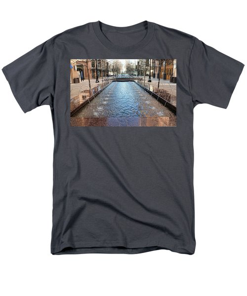 Men's T-Shirt  (Regular Fit) featuring the photograph City Creek Fountain - 1 by Ely Arsha