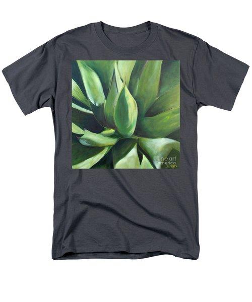Close Cactus II - Agave Men's T-Shirt  (Regular Fit) by Debbie Hart