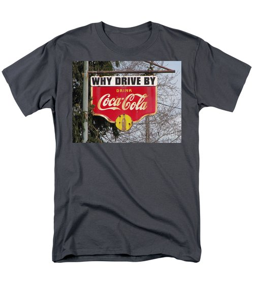 Coca-cola Sign Men's T-Shirt  (Regular Fit) by Michael Krek