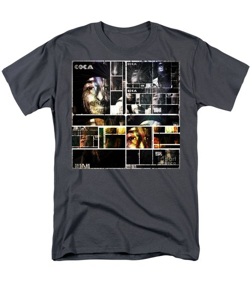 Men's T-Shirt  (Regular Fit) featuring the photograph Coca In Part 5 Collage  by Sir Josef - Social Critic - ART