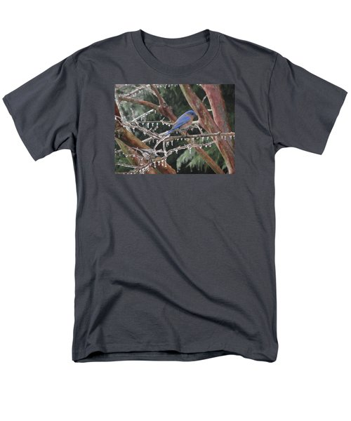 Men's T-Shirt  (Regular Fit) featuring the photograph Cold And Blue by Marilyn Zalatan
