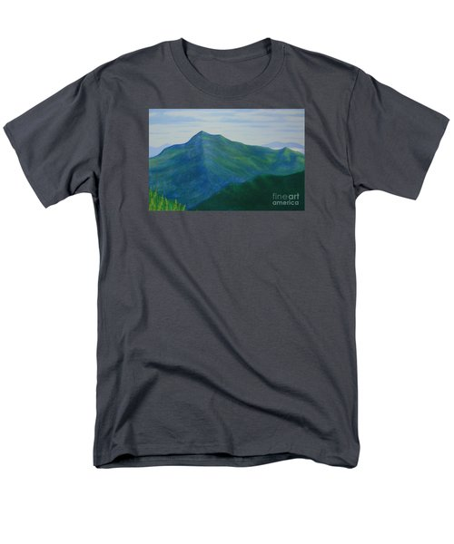 Men's T-Shirt  (Regular Fit) featuring the painting Cold Mountain by Stacy C Bottoms