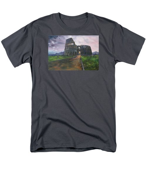 Men's T-Shirt  (Regular Fit) featuring the painting Coliseum Rome by Jean Walker