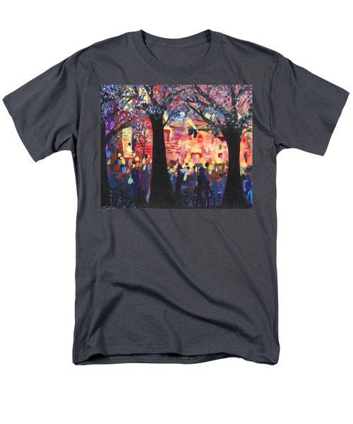 Concert On The Mall Men's T-Shirt  (Regular Fit) by Leela Payne