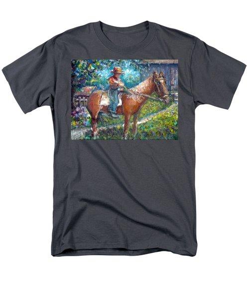 Men's T-Shirt  (Regular Fit) featuring the painting Cool Grandpa by Bernadette Krupa
