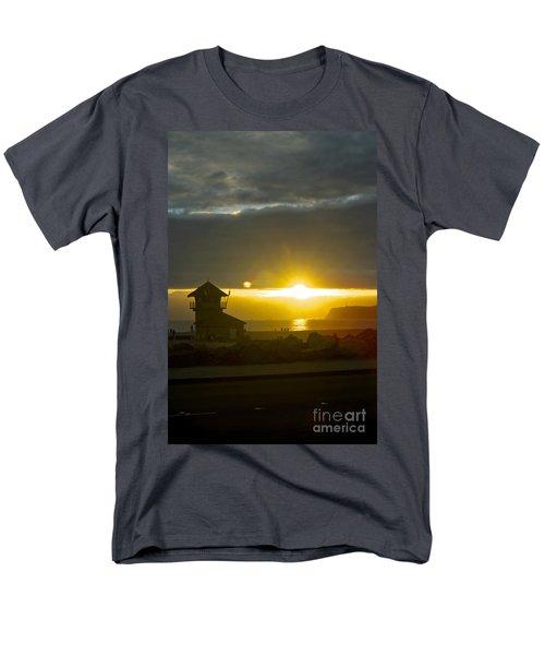 Coronado's Beach At Sunset Men's T-Shirt  (Regular Fit) by Claudia Ellis