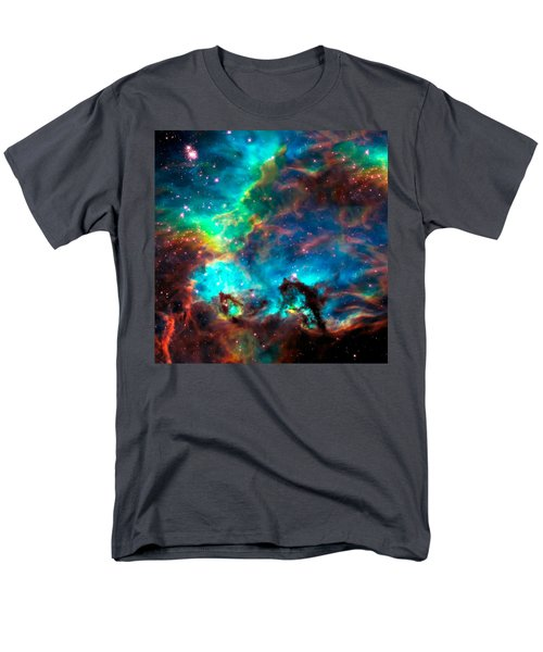 Cosmic Cradle 2 Star Cluster Ngc 2074 Men's T-Shirt  (Regular Fit) by Jennifer Rondinelli Reilly - Fine Art Photography