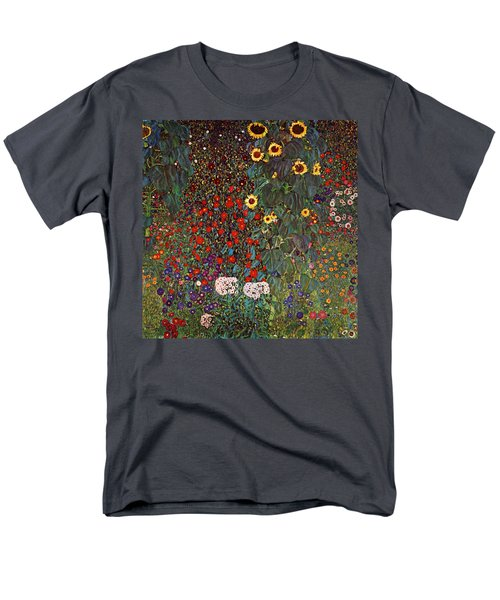 Country Garden With Sunflowers Men's T-Shirt  (Regular Fit) by Celestial Images