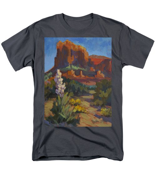 Courthouse Rock Sedona Men's T-Shirt  (Regular Fit) by Diane McClary