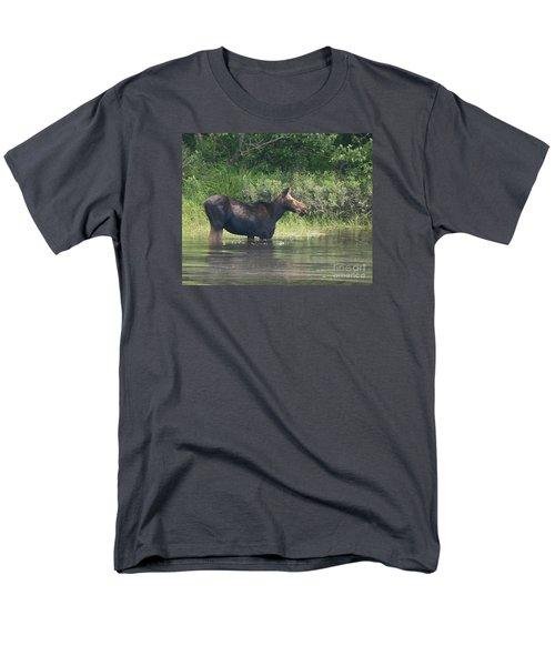 Cow Moose Breakfast Men's T-Shirt  (Regular Fit) by Neal Eslinger