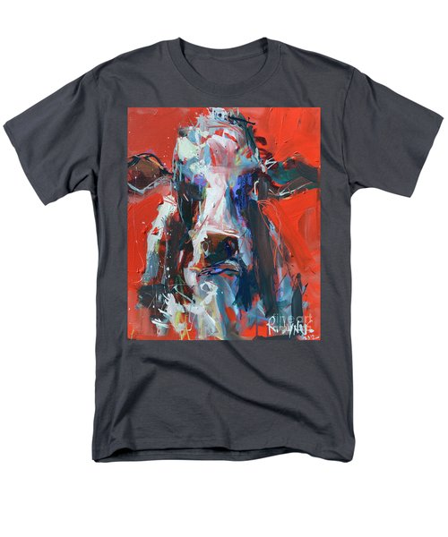 Cow On Red Men's T-Shirt  (Regular Fit) by Robert Joyner