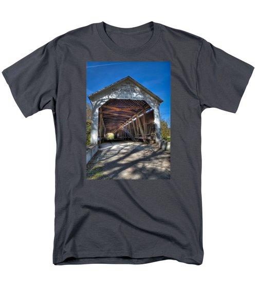 Cox Ford Covered Bridge Men's T-Shirt  (Regular Fit) by Alan Toepfer