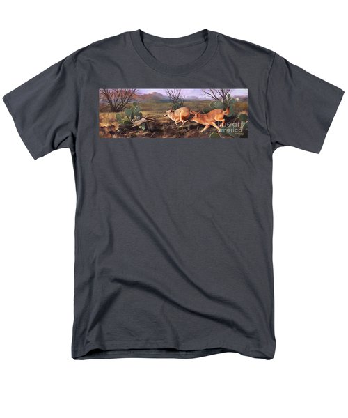Men's T-Shirt  (Regular Fit) featuring the painting Coyote Run by Rob Corsetti