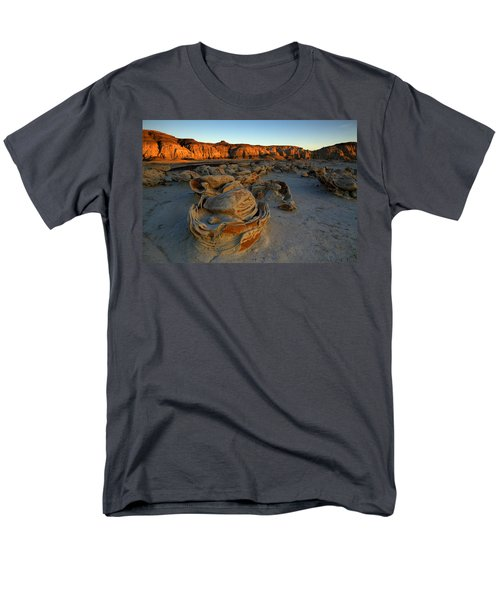 Cracked Eggs In The Bisti Badlands  Men's T-Shirt  (Regular Fit) by Alan Vance Ley
