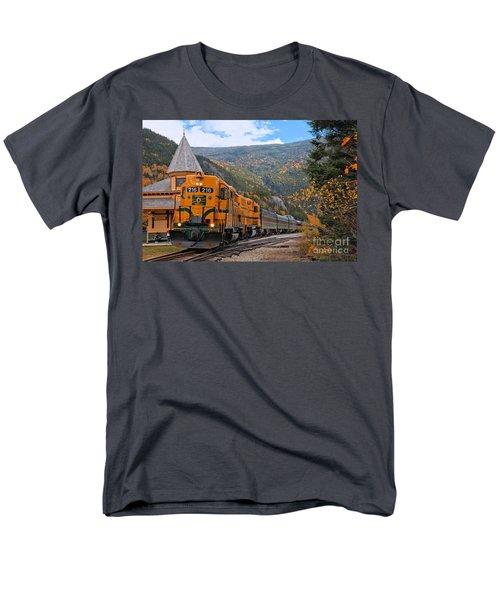 Crawford Notch Train Depot Men's T-Shirt  (Regular Fit) by Adam Jewell