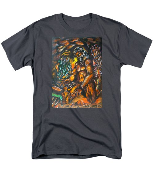 Men's T-Shirt  (Regular Fit) featuring the pastel Creation Creacion by Lazaro Hurtado