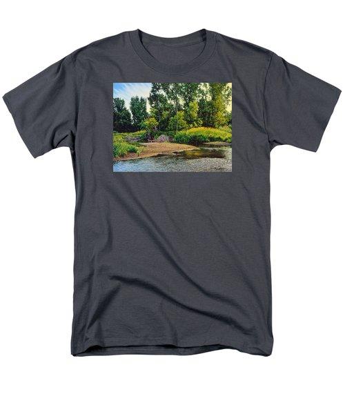 Creek's Bend Men's T-Shirt  (Regular Fit) by Bruce Morrison