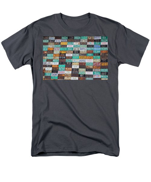 Crested Butte License Plate House Men's T-Shirt  (Regular Fit) by Fiona Kennard
