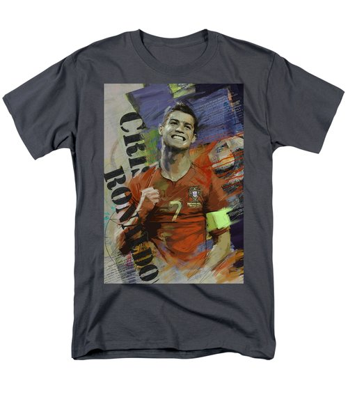 Cristiano Ronaldo - B Men's T-Shirt  (Regular Fit) by Corporate Art Task Force