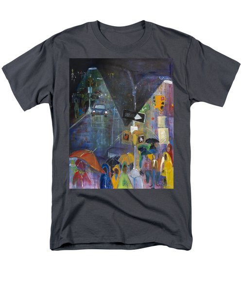 Crowded Intersection Men's T-Shirt  (Regular Fit) by Leela Payne