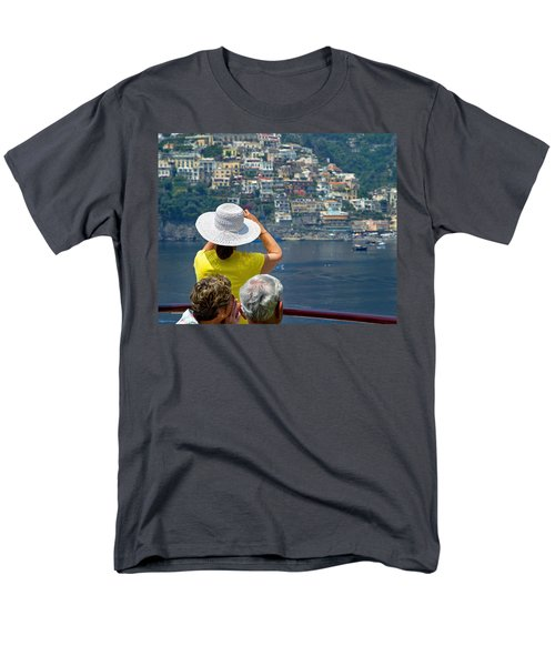 Men's T-Shirt  (Regular Fit) featuring the photograph Cruising The Amalfi Coast by Keith Armstrong